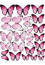 "Вафельная картинка ""Бабочки"" - 12"