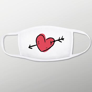 Текстильная маска на лицо из двухслойной ткани с карманом для фильтра
