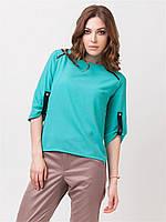 Блузка женская зеленая рукав 3\4, фото 1