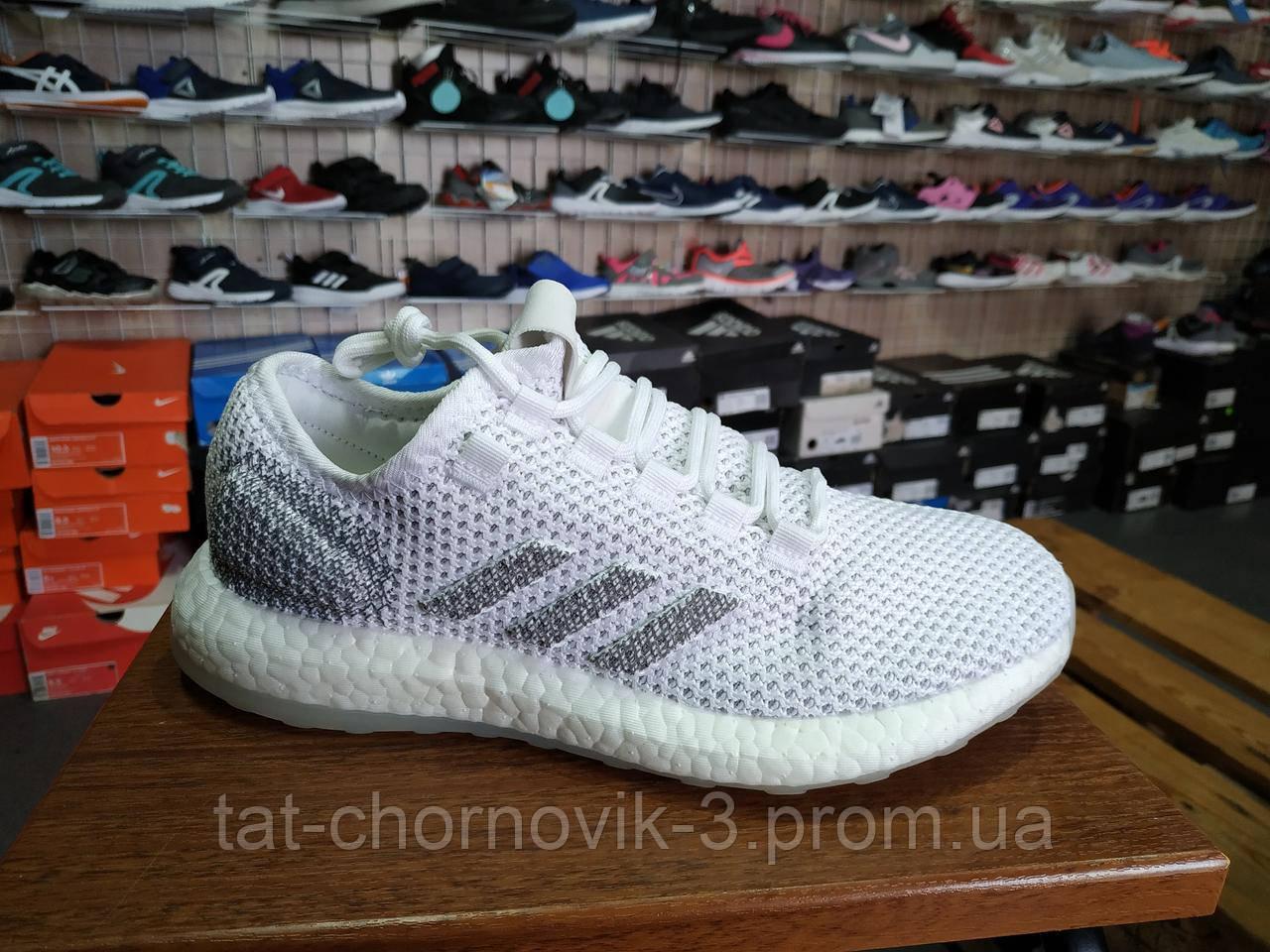 Adidas PureBoost Clima CC 'White Grey' G27832 Оригинальные кроссовки для бега  и фитнеса