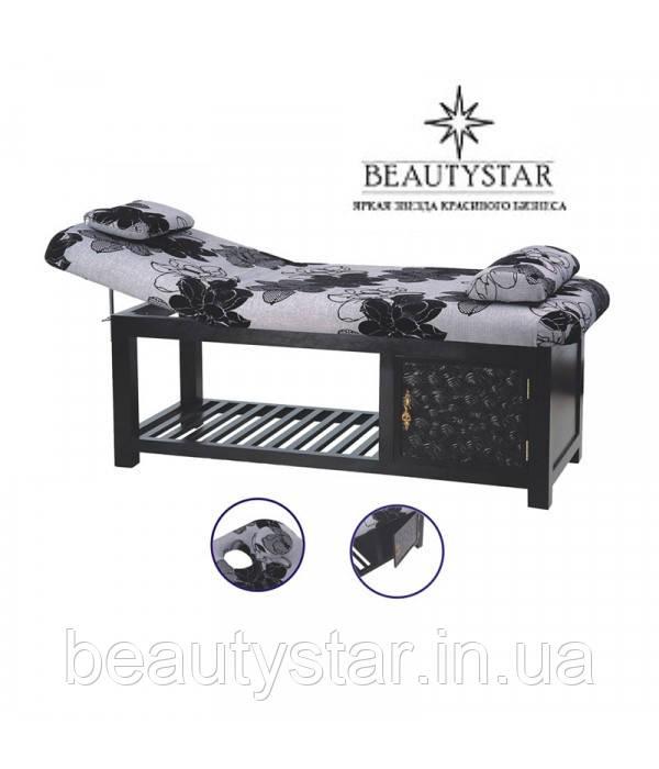 Кушетка массажная Стол для массажа стационарный деревянный 2-х секционный 887 для массажного кабинета для дома
