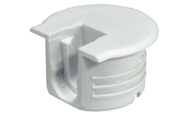 Корпус стяжки RAFIX TAB пластиковый белый алюминий D20 мм 12.7 мм толщина детали 16 мм Артикул: 263.09.731