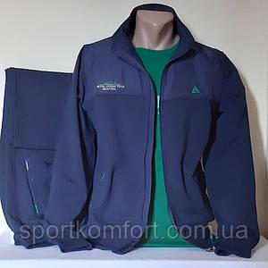 Мужской спортивный трикотажный костюм Soccer, Турция, тёмно-синий, хлопок 70, размер 48, 50.