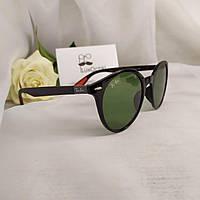 Круглые стильные солнцезащитные очки Ray Ban Ferrari стеклянная линза