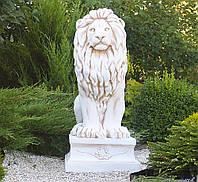 Садовая фигура скульптура для сада Лев 101х45х57 см ССК00002 статуя