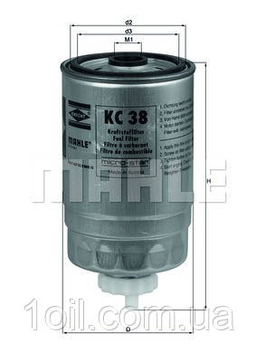 Фильтр топливный KNECHT KC38
