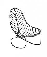 Кресло-качалка для отдыха LEAF металл напоминающий прожилки листьев