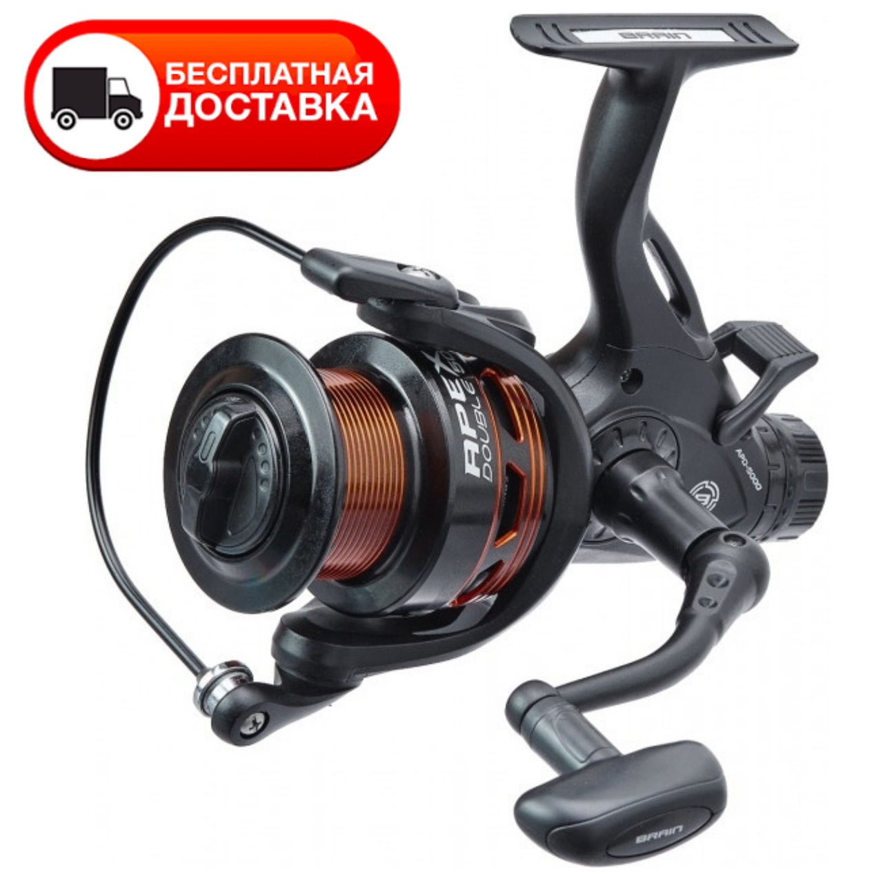 Котушка Brain Apex Double Baitrunner 4000 6+1BB
