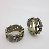 Кольцо с коричневой эмалью, фото 2