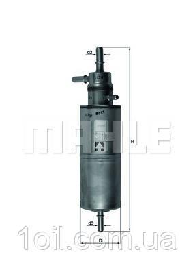 Фильтр топливный KNECHT KL438