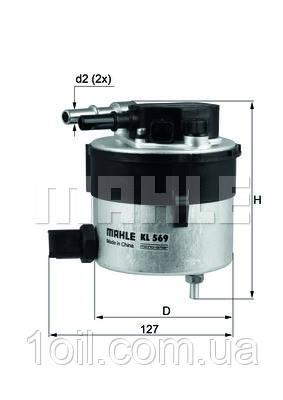 Фильтр топливный KNECHT KL569