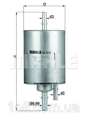 Фильтр топливный KNECHT KL570