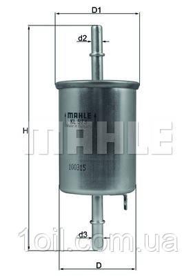 Фильтр топливный KNECHT KL573 (Daewoo)