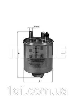 Фильтр топливный KNECHT KL638