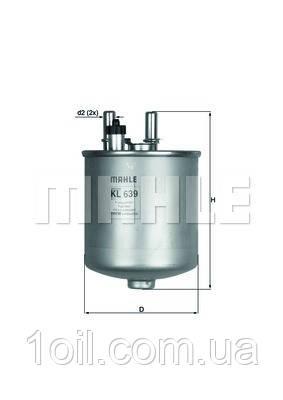 Фильтр топливный KNECHT KL639D