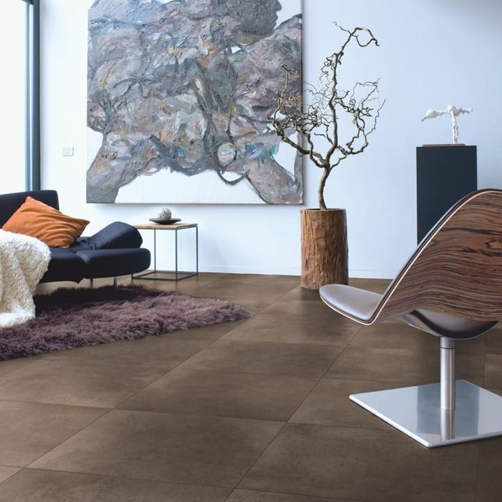Ламинат Quick-Step Arte бетон темный полированный UF1247