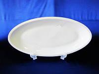 Блюдо керамическое глубокое белое 43х20 см