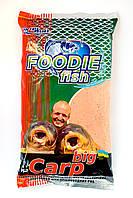 Прикормка Біг короп полуниця Foodie Fish 1 кг