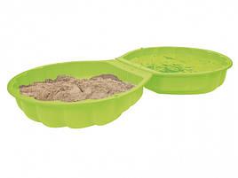 Детская песочница бассейн Ракушка с крышкой 2 в 1 салатная Sand Wassermuschel turquoise Big 007723