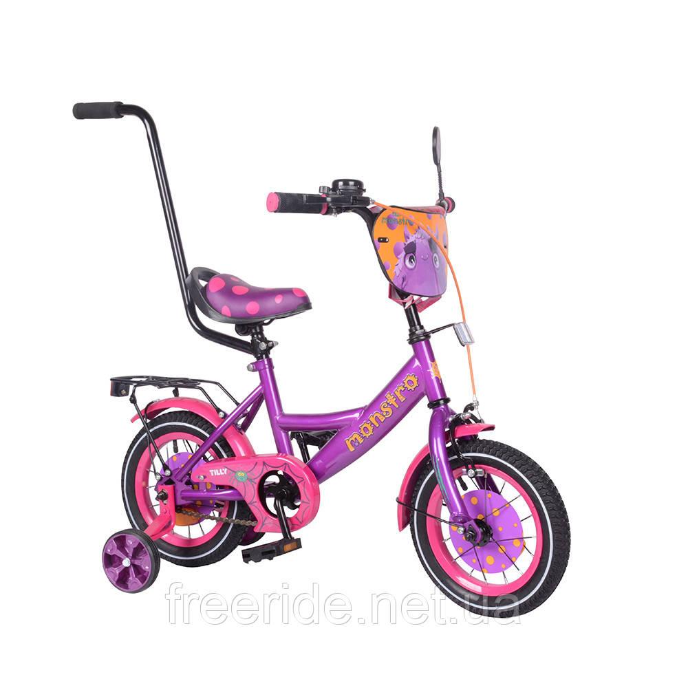 Детский Велосипед TILLY Monstro 12 T-212211 purple+pink