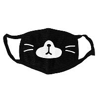 Маска тканевая Geekland Кей поп Аниме рожицы мордочка лисички K-pop чёрная MS 019