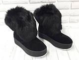 Ботинки молодежные зимние из натуральной замши от производителя модель БФ2033-2, фото 2