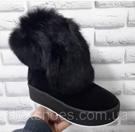 Ботинки молодежные зимние из натуральной замши от производителя модель БФ2033-2