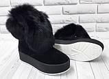 Ботинки молодежные зимние из натуральной замши от производителя модель БФ2033-2, фото 3