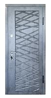 Дверь входная металлическая П-3К-116 Украина МДФ/МДФ мрамор темный Декор 4D 3 притвора