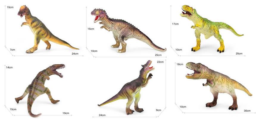 Динозавр гумовий,зі звуковими ефектами, K0907/1015/1101/1102/110, фото 2