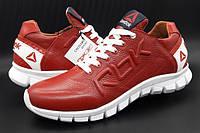 Кожаные мужские кроссовки  Reebok CrossFit (model 12/16) красные