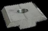 Алюминиевый профиль — Прижим межмодульный алюминиевый 33х12/30мм Б/П, фото 3