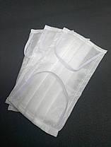 МНОГОРАЗОВАЯ маска белая. Материал: водонепроницаемый спанбонд, 2 слоя, плотность 100 г. (от 20 шт)
