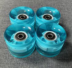 Набор колес LED для Пенни Борда - Светятся - Бирюзовый