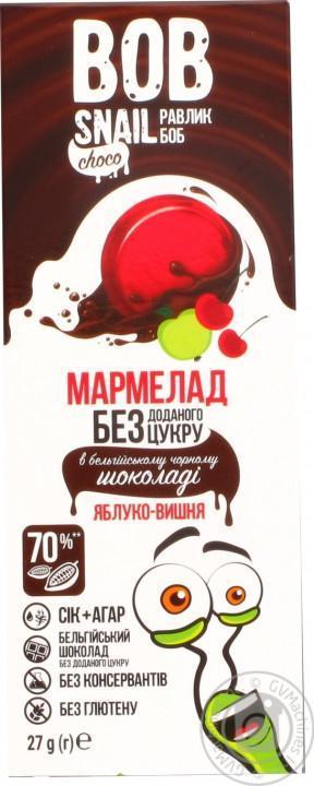 Мармелад в шоколаде без сахара Яблоко-вишня Bob snail 27 г
