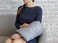 Подушка для кормления ребенка на руку, серая