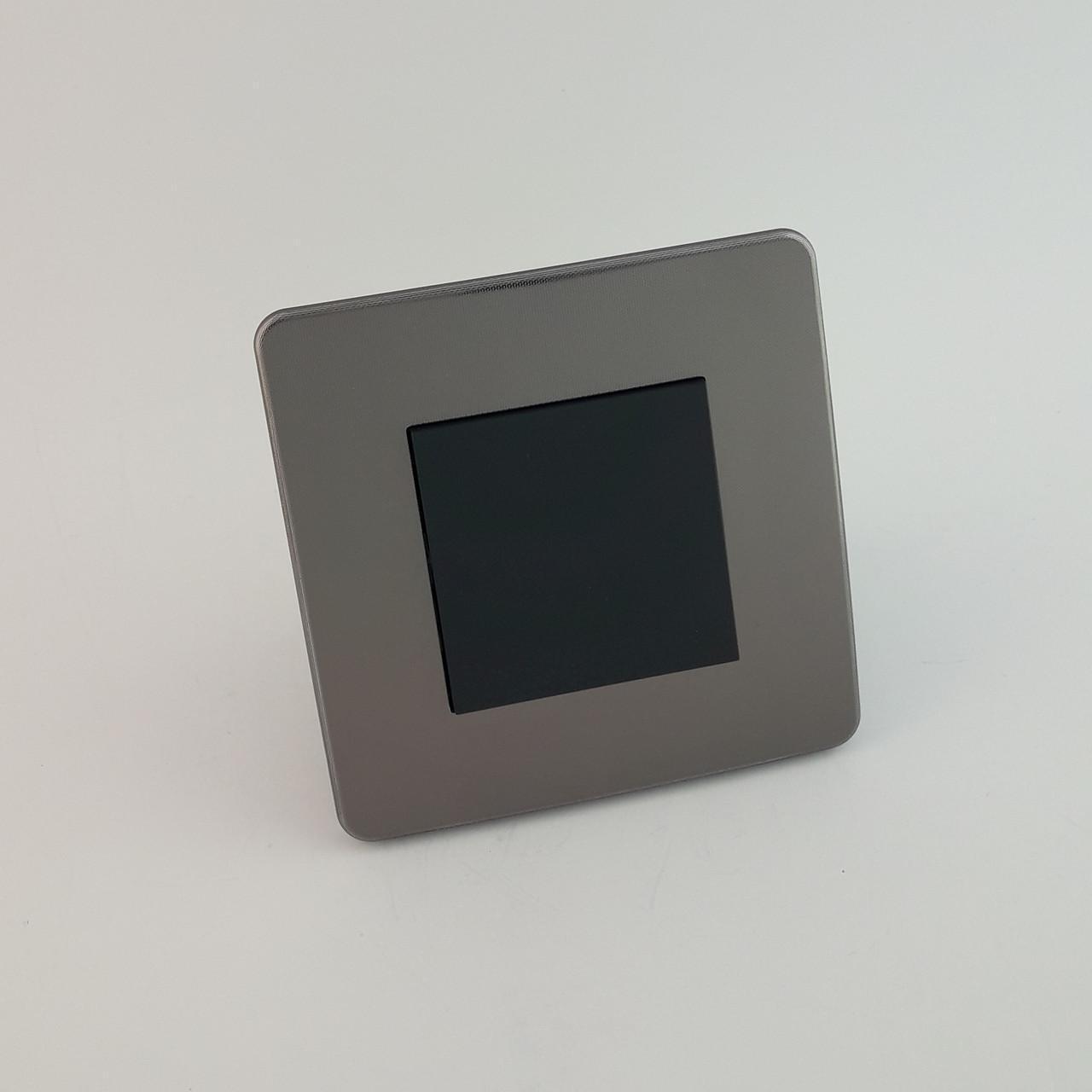 Рамка 3 постовая Studio Color, никель/антрацит, 3х2 модуля
