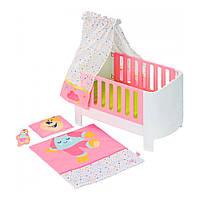 Кроватка для пупса куклы Baby Born со звуком и игрушкой Zapf 827420