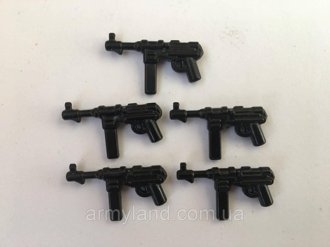 MP 40, оружие для минифигурок 5шт, конструктор аналог Lego,BrickArms