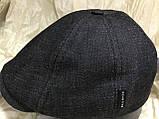 Кепка мужская восьмиклинка из чёрной джинсы  размер  61-62, фото 3