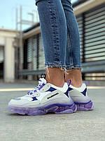 Женские кроссовки Balenciaga (Баленсиага) Triple S Violet, фото 1