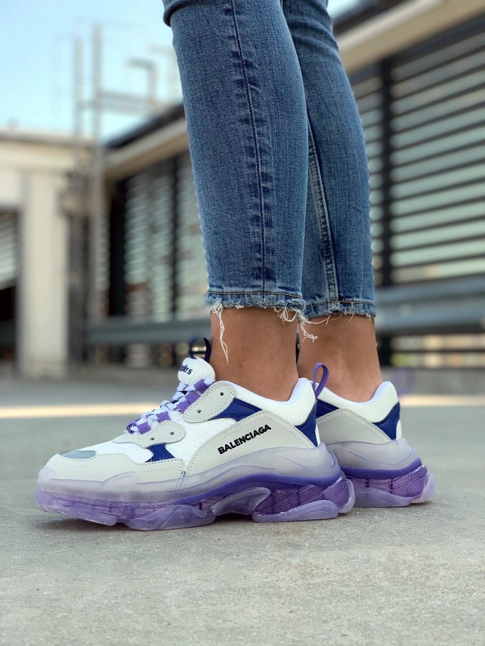 Женские кроссовки Balenciaga (Баленсиага) Triple S Violet