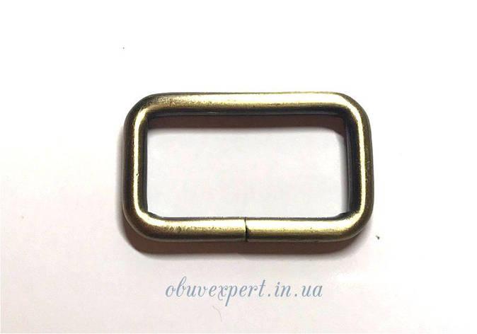 Рамка  сумочная 40*20 мм, толщ. 5 мм Тертый антик, фото 2