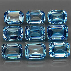 Натуральный топаз голубой  5 х 7   мм
