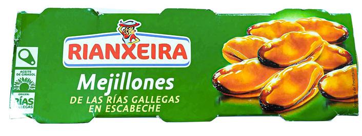 Мидии Rianxeira маринованные 3*85 g