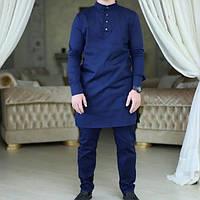 Камис из натурального льна (костюм брюки и рубаха длинная) ХС-12ХХЛ, фото 1