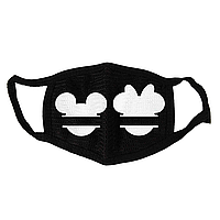 Маска тканевая Geekland Микки и Минни Маус чёрная MS 068
