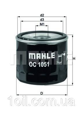 Фильтр масляный KNECHT OC1051  (OC244)