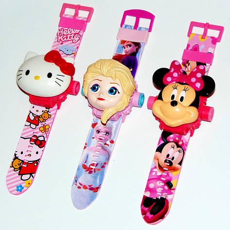 """Дитячий наручний годинник з 3d проектором """"Мінні Маус (Minnie Mouse)"""", фото 2"""