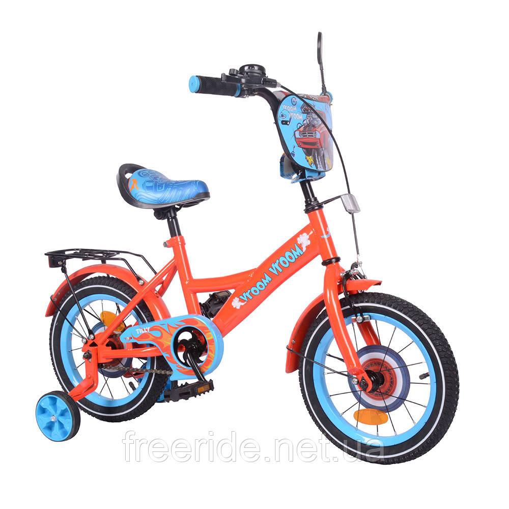 Детский велосипед TILLY Vroom 14 T-214212 red + blue